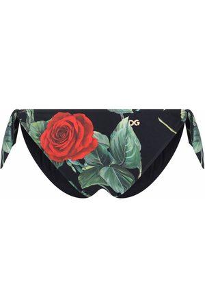 Dolce & Gabbana Dames Bikini's - Rose-print bikini bottoms