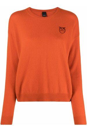 Pinko Dames Gebreide truien - Embroidered-logo cashmere jumper