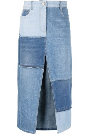 Pinko Dames Jeansrokken - Patchwork denim skirt