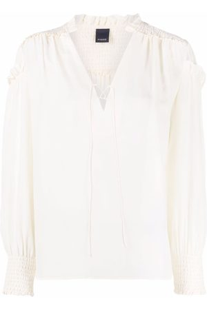 Pinko Lace-tied long sleeve blouse