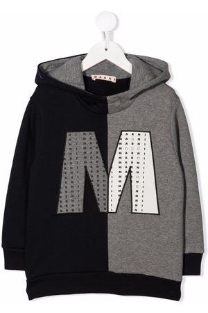 Marni Meisjes Hoodies - Colour-block logo patch hoodie