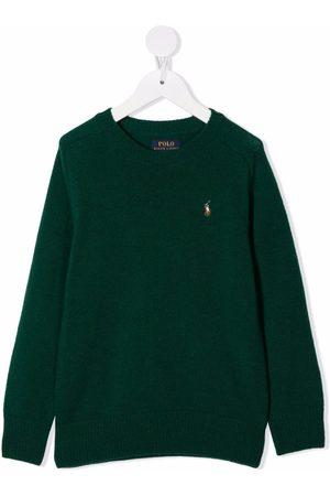 Ralph Lauren Kids Jongens Poloshirts - Polo Pony-embroidered rib-trimmed jumper