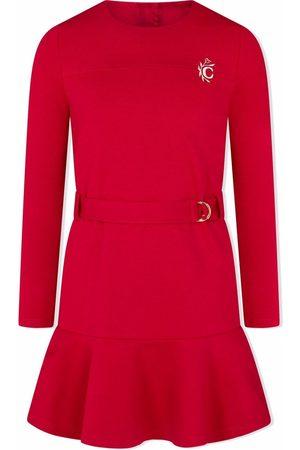 Chloé Long-sleeve belted jersey dress