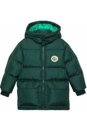Gucci Jongens Donsjassen - Double G padded down coat