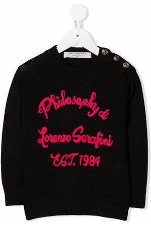 Philosophy Di Lorenzo Serafini Kids Meisjes Truien - Embroidered knit logo jumper