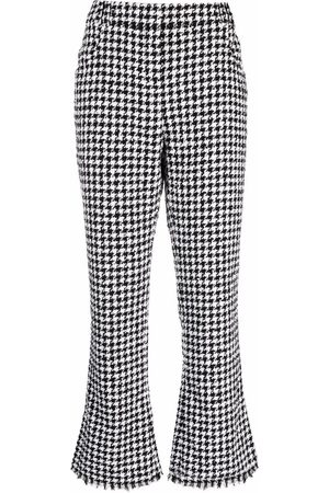 Balmain Houndstooth-pattern cropped trousers