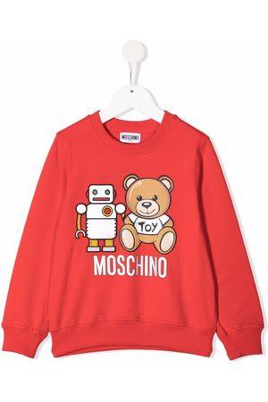 Moschino Jongens Sweaters - Teddy robot sweatshirt