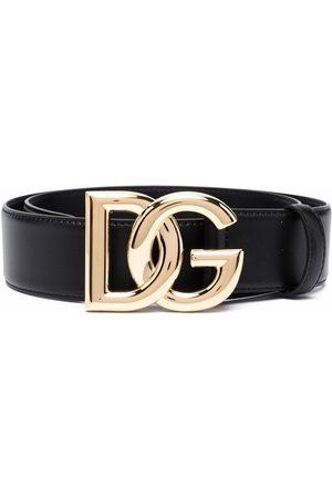 Dolce & Gabbana Logo-plaque leather belt