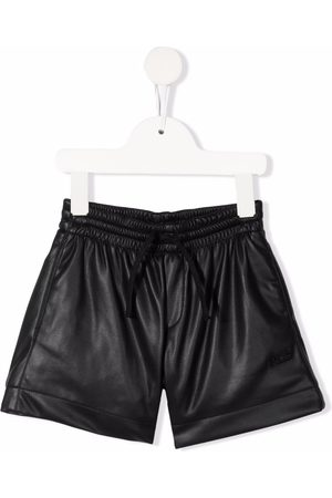 PHILOSOPHY DI LORENZO SERAFINI Meisjes Shorts - Faux-leather fitted shorts