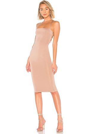 superdown Yvonne Laced Back Midi Dress in