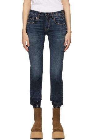 R13 Heren Straight - Blue Straight Boy Jeans