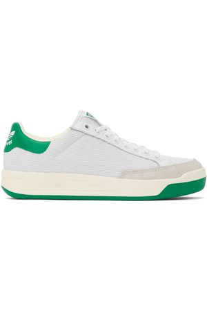adidas Heren Sneakers - White & Green Rod Laver Sneakers