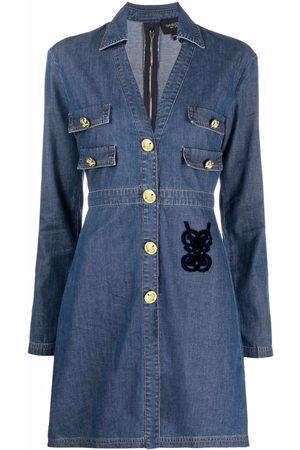 Giambattista Valli Dames Jeans jurken - Embroidered-logo denim dress