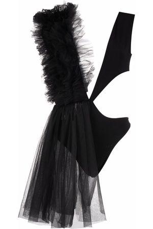 Alchemy Dames Bodysuits - Asymmetrical ruffle-trim bodysuit
