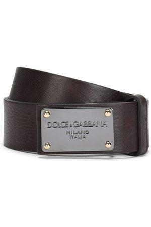 Dolce & Gabbana Logo plaque leather belt