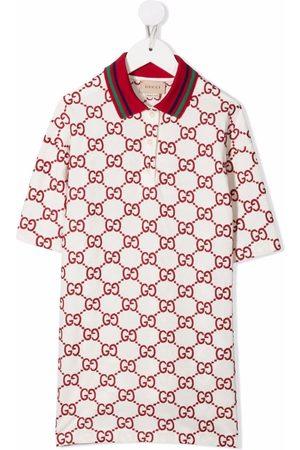 Gucci Monogram-print polo dress