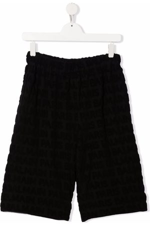 Balmain Textured monogram shorts