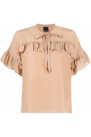 Pinko Ruffled short-sleeved blouse