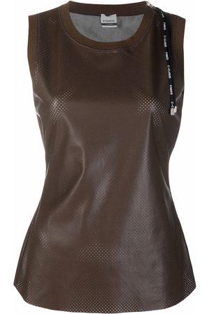Pinko Perforated sleeveless top