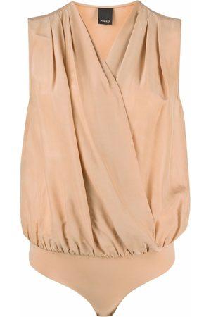 Pinko Dames Bodysuits - V-neck wrap bodysuit