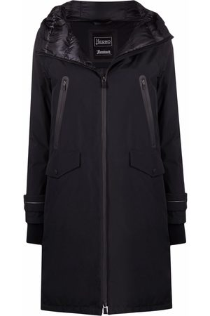 HERNO Hooded zipped coat