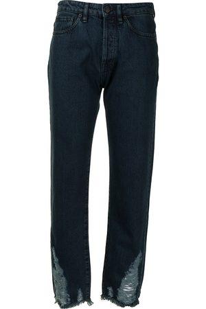 3x1 Higher Ground Destroyed-Hem Boyfriend jeans