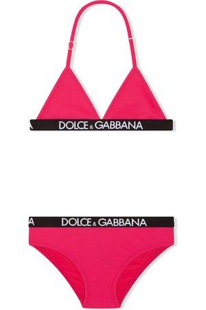 Dolce & Gabbana Logo-elastic triangle bikini