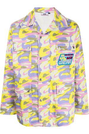 GCDS Heren Leger jassen - Camouflage-print military jacket