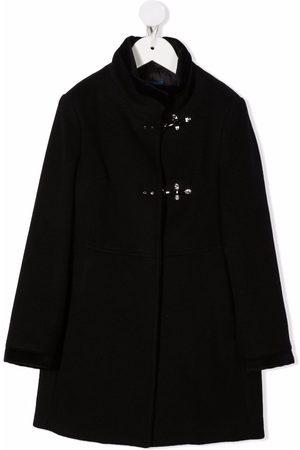 Fay Kids Meisjes Donsjassen - Single-breasted high-neck coat