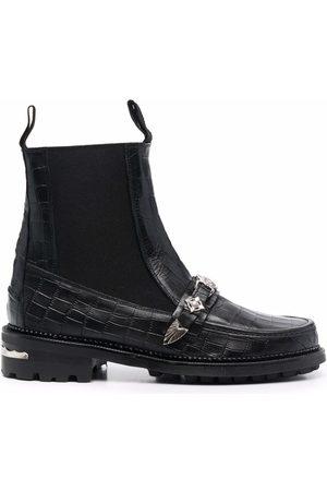 TOGA VIRILIS Heren Enkellaarzen - Crocodile embossed ankle boots