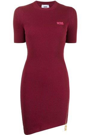 GCDS Dames Asymmetrische jurken - Short-sleeve asymmetric T-shirt dress
