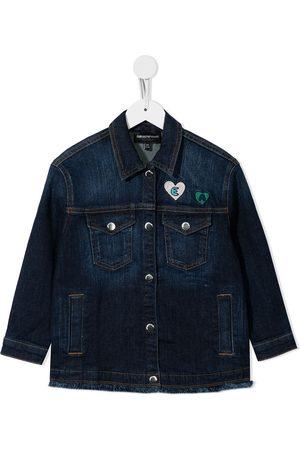 Emporio Armani Meisjes Donsjassen - Patch-detail denim jacket