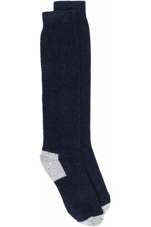FEDELI Heren Sokken - Contrasting-panel socks