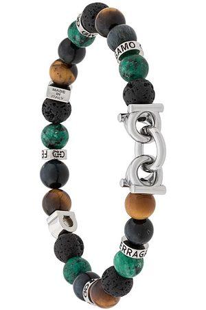 Salvatore Ferragamo Heren Armbanden - Semi-precious stone and Gancini bracelet