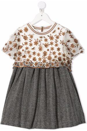 Mimisol Meisjes Feestjurken - Floral embroidery dress