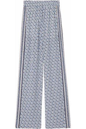 Burberry Monogram print wide-leg trousers