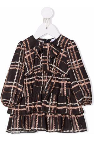 Elisabetta Franchi La Mia Bambina Meisjes Feestjurken - All-over print ruffled dress