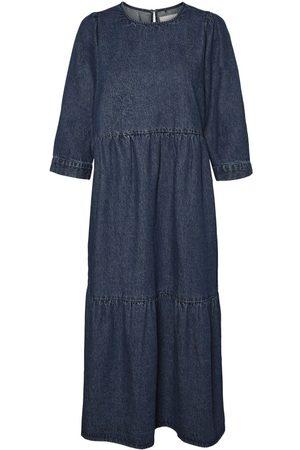 Noisy May Dames Jeans jurken - Lang Denim Jurk Dames