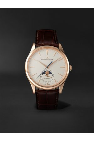 Jaeger-LeCoultre Heren Horloges - Master Ultra Thin Automatic Moon-Phase 39mm 18-Karat Pink Gold and Alligator Watch, Ref. No. 1362510