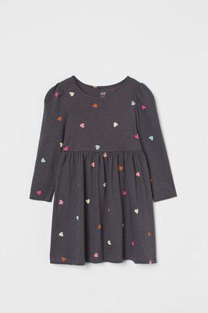 H&M Meisjes Geprinte jurken - Tricot jurk met dessin