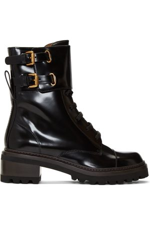 See by Chloé Dames Bikerboots - Black Mallory Biker Boots