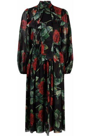 Dolce & Gabbana Dames Geprinte jurken - Floral-print dress