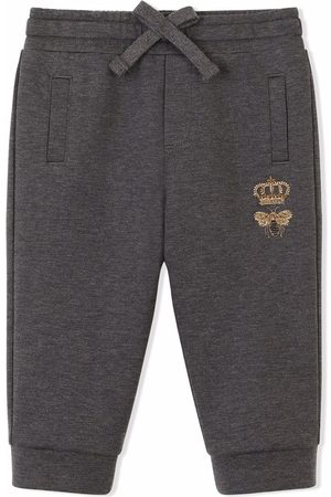 Dolce & Gabbana Bee-embroidered track pants