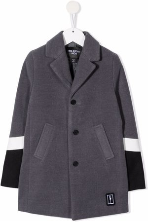 Neil Barrett Colour-block single-breasted coat