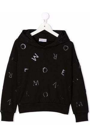 Moncler Logo lettering-print cotton sweatshirt
