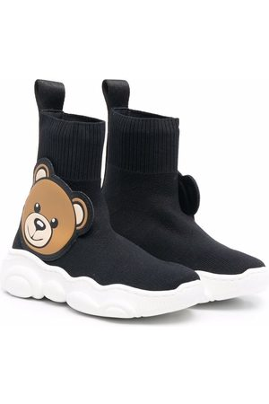 Moschino Teddy bear-embellished sock-style sneakers