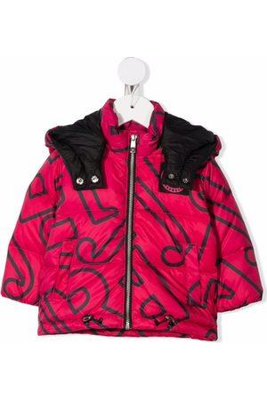 John Richmond Junior Logo-print puffer jacket