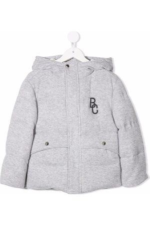 Brunello Cucinelli Jongens Donsjassen - Logo-patch padded jacket