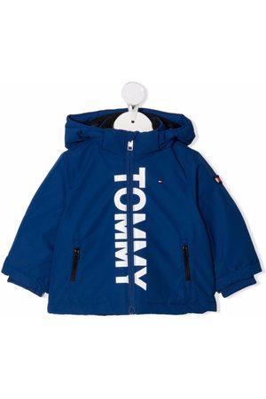 Tommy Hilfiger Donsjassen - Logo-print hooded jacket