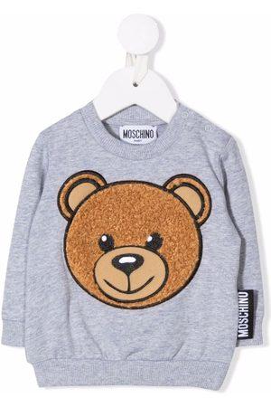 Moschino Sweaters - Teddy logo embroidered sweatshirt